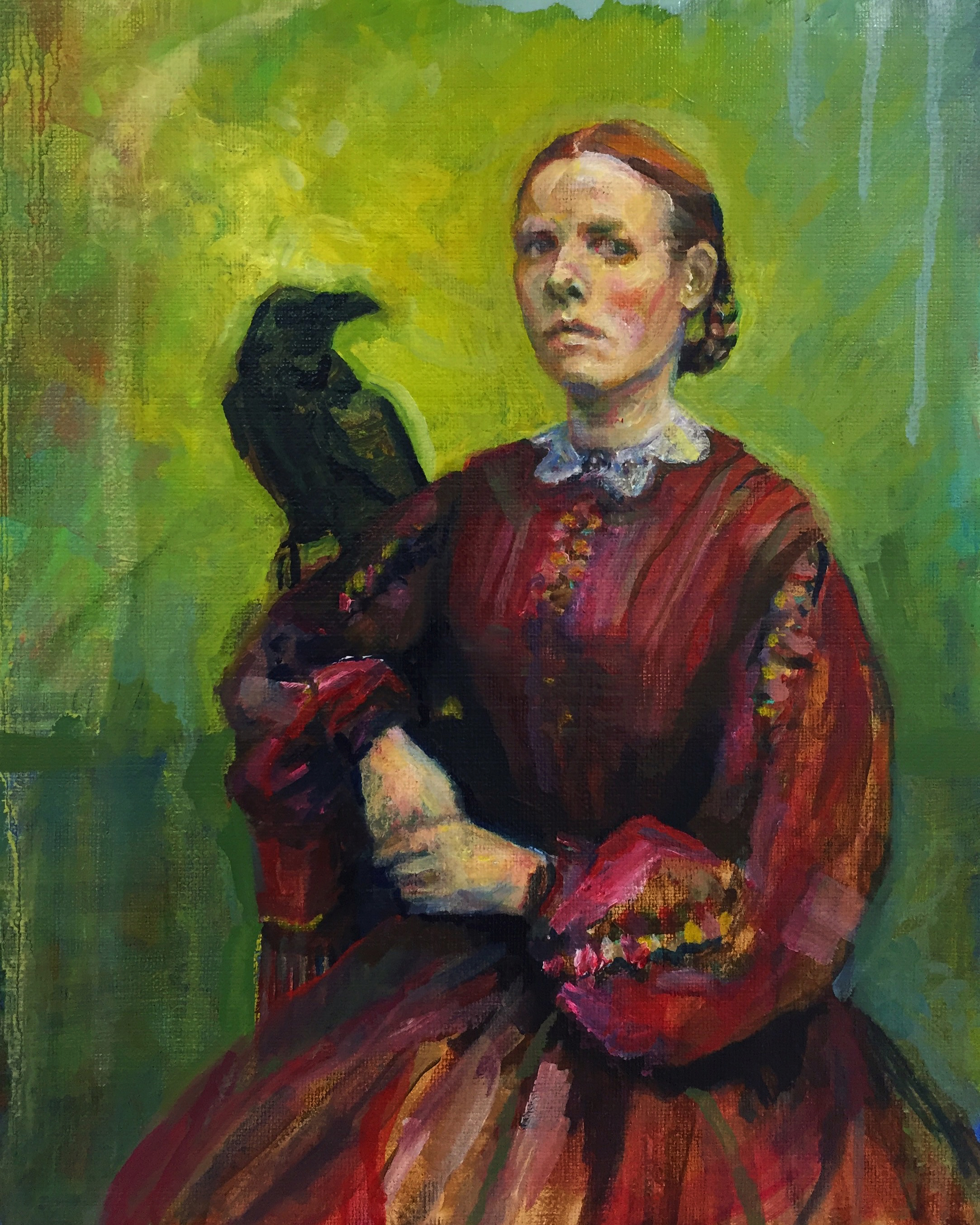 raven-and-woman-angelica-marken-2016