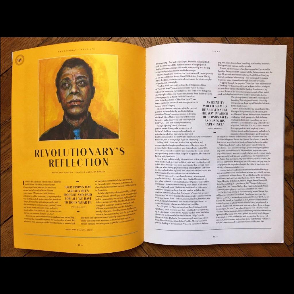 angelica markén portrait James Baldwin